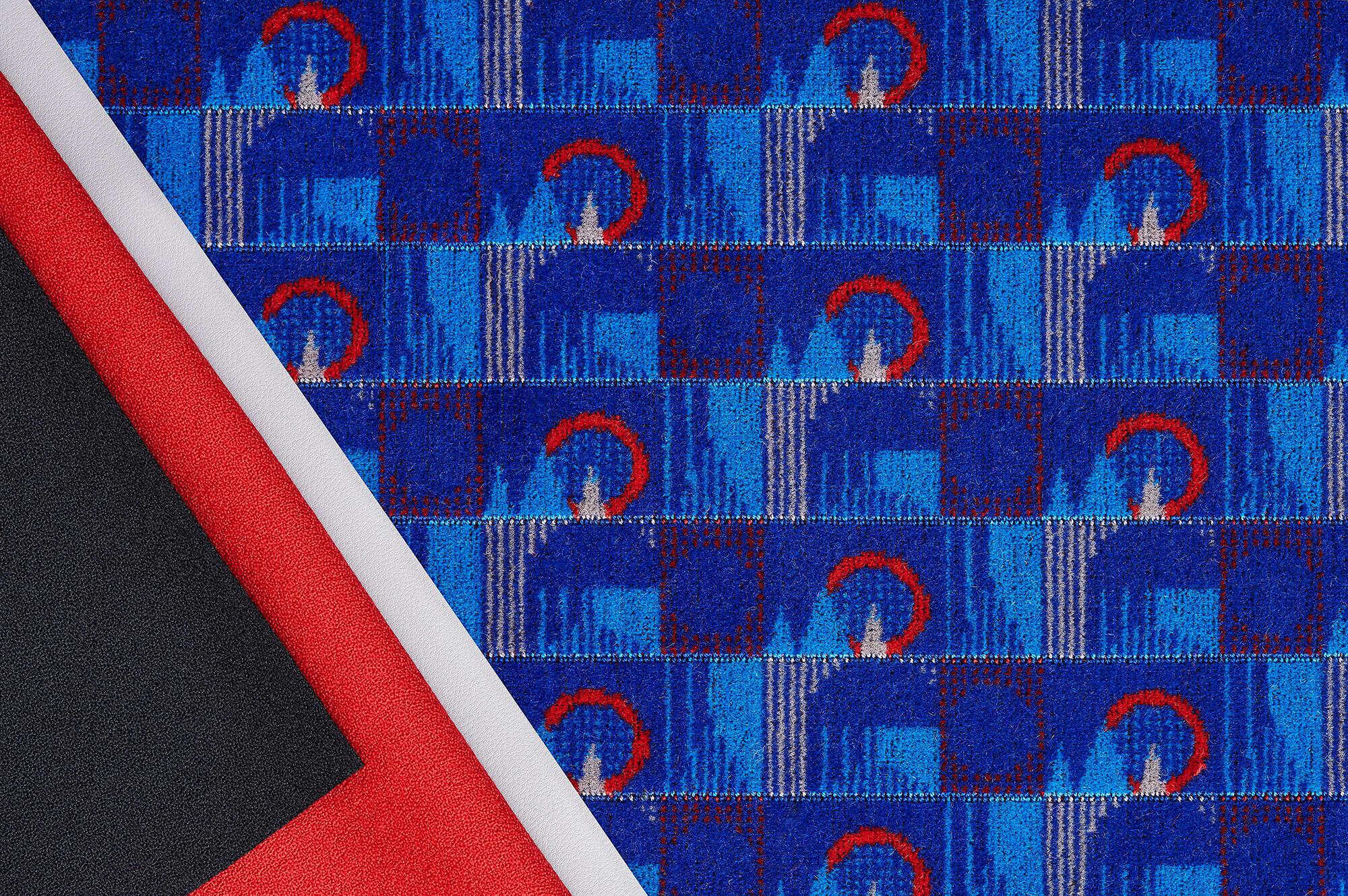 Moquette fabric for London Underground