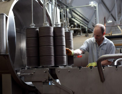 Camira Yarn dyeing at Park Valley Dyers
