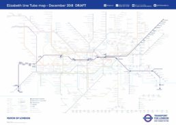 Elizabeth Line Tube Map