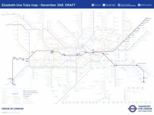 Elizabeth Line Tube Map