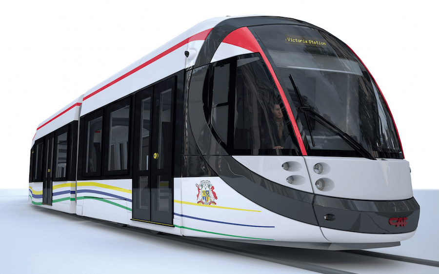 Urbos Tram for Mauritius Light Rail