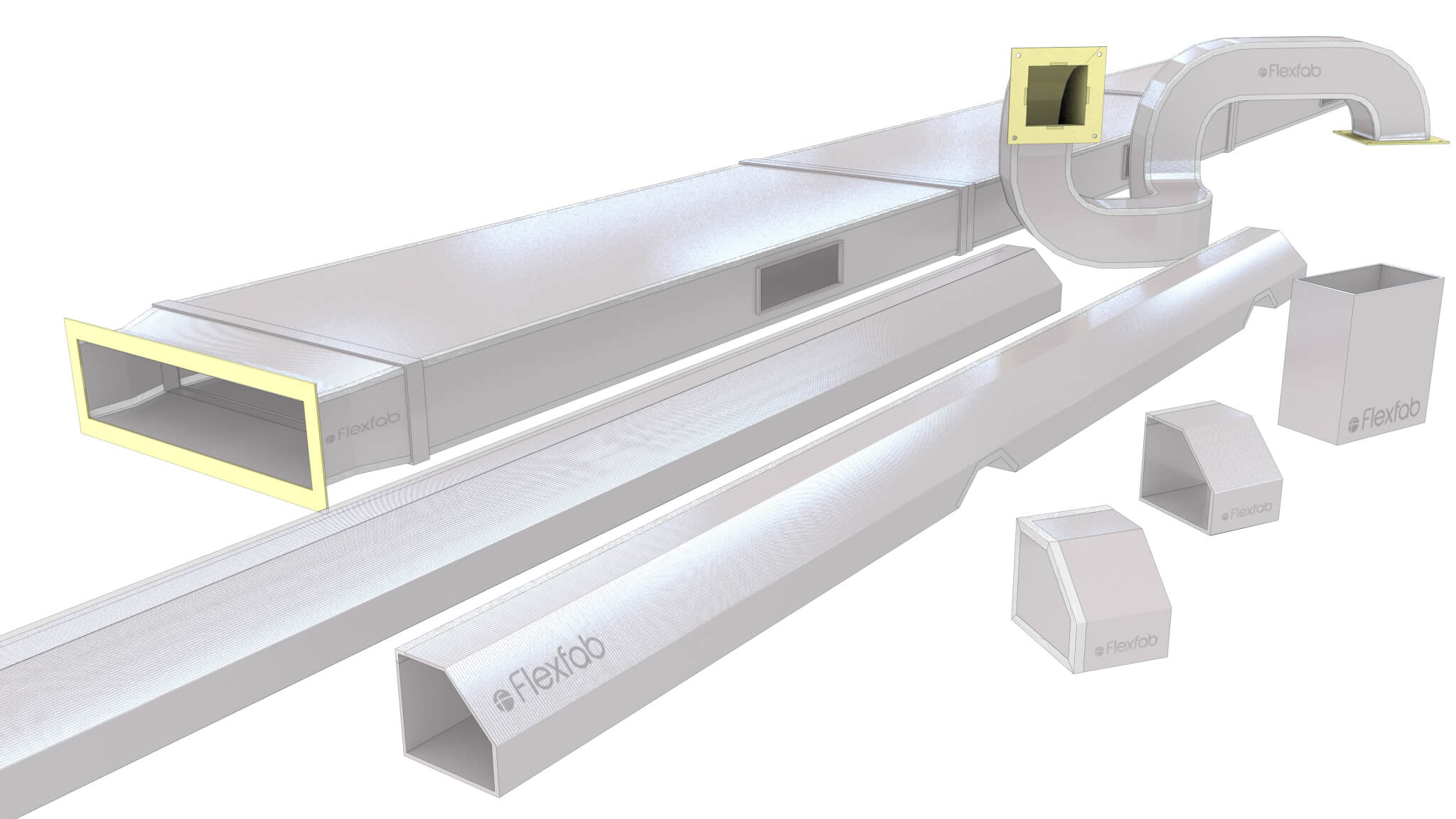 Light-weight rigid ducting for Rail Vehicle HVAC systems