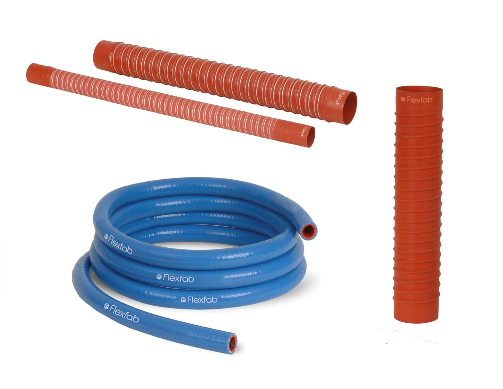 Hoses and light-weight flexible ducting for Movement of fluids and air