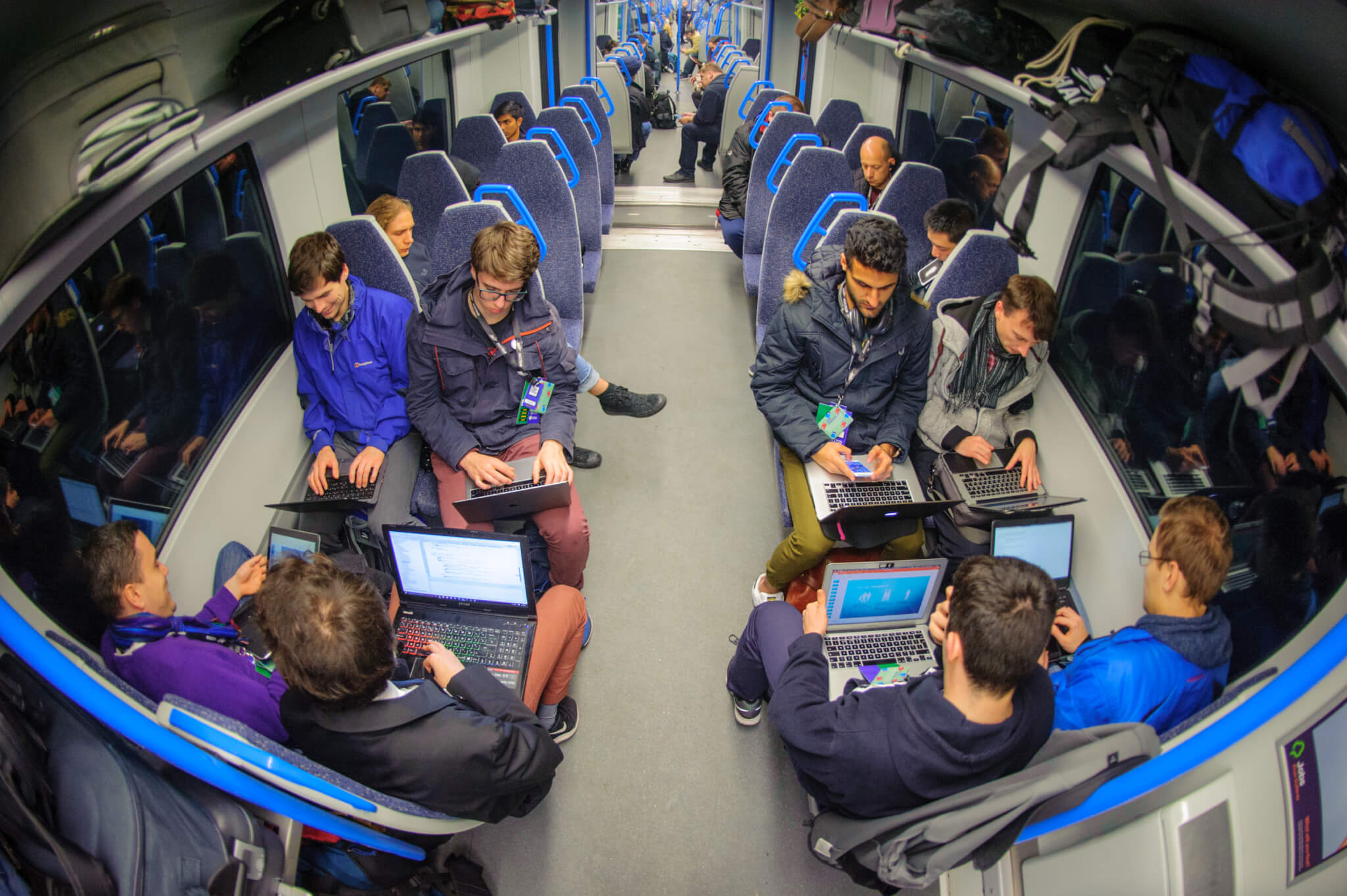 HackTrain 4.0 addressing their challenges on their train