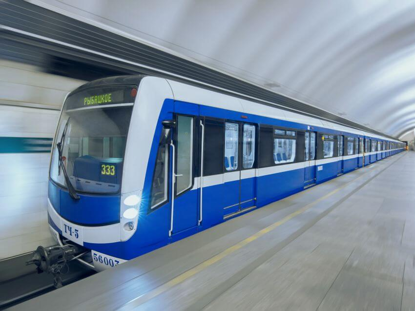 St Petersburg Metro Train
