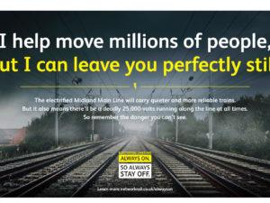 dangers of trespassing on electrified railway