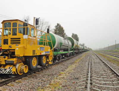 Trackmobile Moscow 14 tankcars