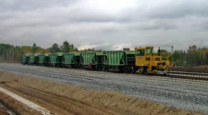 Trackmobile 7 Hopper Cars