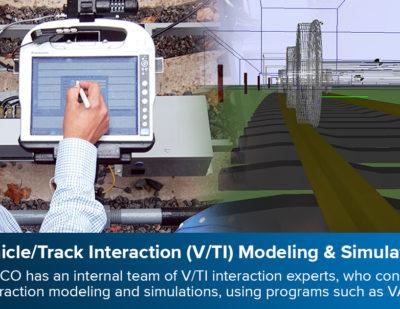 ENSCO Vehicle/Track Interaction (V/TI) Modeling & Simulation