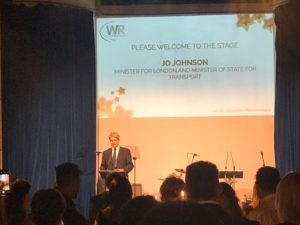 Jo Johnson at the Women in Rail Awards