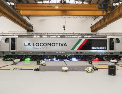 Italy: Bombardier Rolls Out New TRAXX DC3 Locomotive to Industry