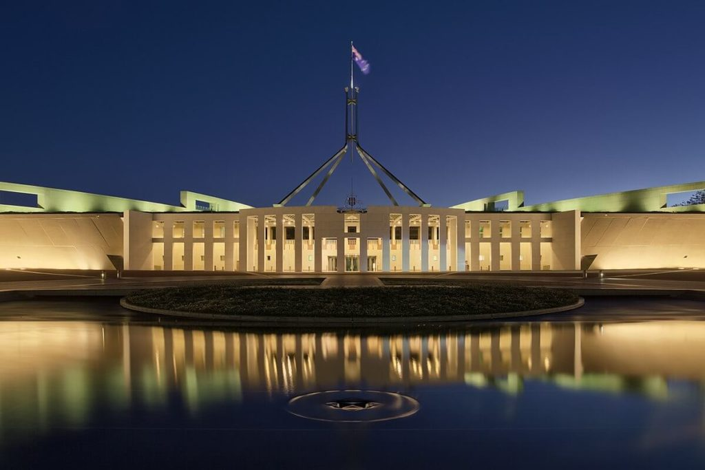 Parliament House, Canberra, a budget for rail