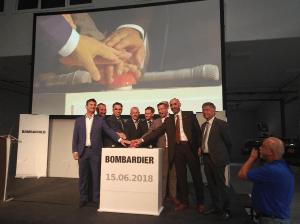 Opening of Bombardier Assembly Hall, Bautzen