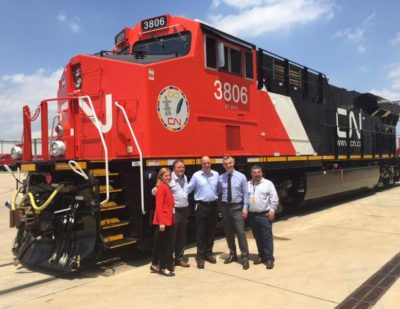Texas: GE Reveals First Evolution Series Locomotive for Canadian National