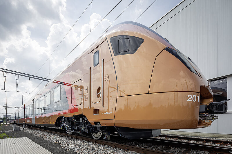 Stadler Traverso for the Voralpen-Express