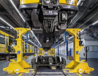 New WINDHOFF In-Floor Lifting Plant for Underground Railway Rolling Stock in Berlin