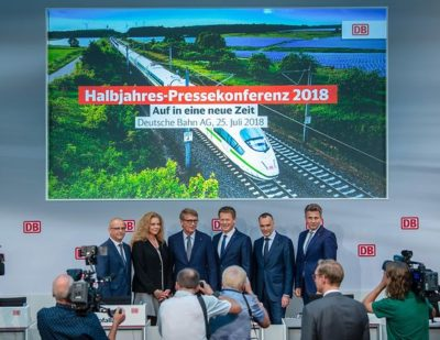 Germany: Deutsche Bahn Releases Revenue and Passenger Numbers for the First Half of 2018