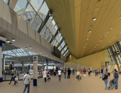 UK: Network Rail Releases Digital Imagery of Glasgow Queen Street Station Redevelopment