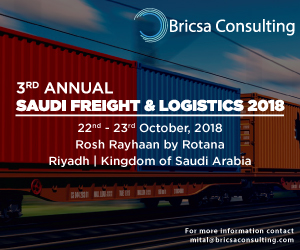 Countdown to Brisca Consulting's 3rd Annual Saudi Freight & Logistics Conference