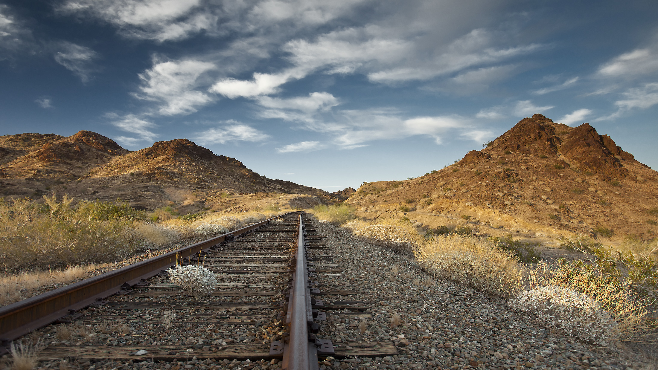 rail tracks in Arizona, United States