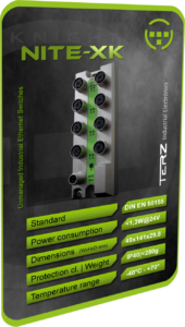 TERZ Industrial M12 IP40 Ethernet Switch