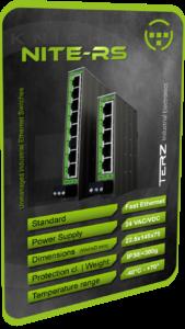 TERZ Industrial RJ45 Ethernet Switch IP30 Slim