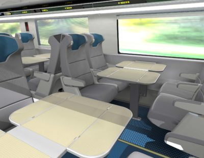 Amtrak Unveils Interiors of its New Acela Express Trains