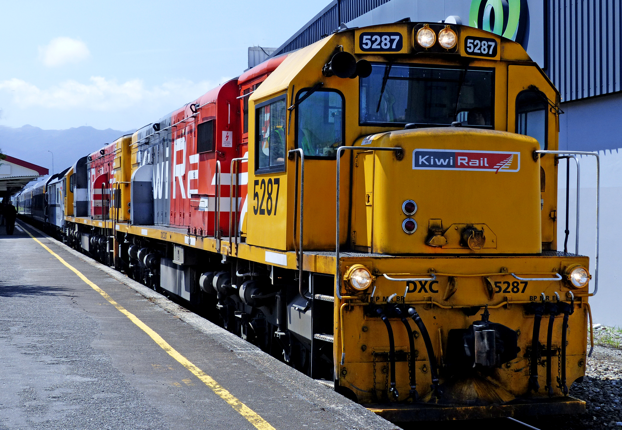KiwiRail freight train