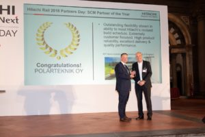 Polarteknik Awarded SCM Partner of the Year 2018 by Hitachi Rail