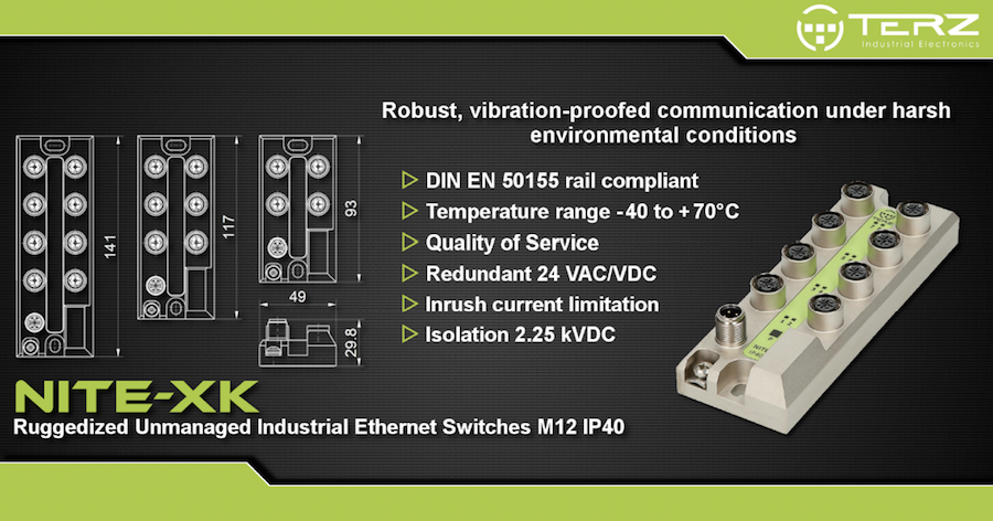 Shock and Vibration Resistant Industrial Ethernet Switches