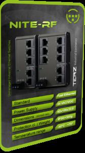 TERZ Industrial Ethernet Switch RJ45 flat