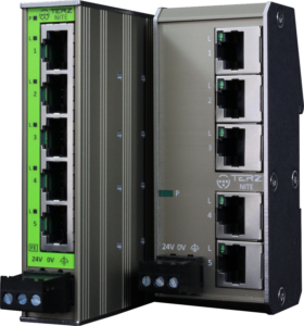 TERZ Unmanaged Industrial Ethernet Switches RJ45 5 Port