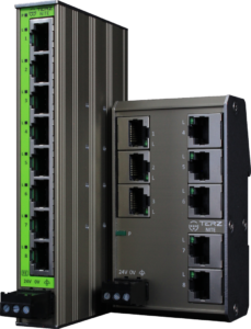 TERZ Unmanaged Industrial Ethernet Switches RJ45 TERZ NITE Flat Slim