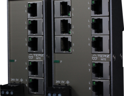 Flat Compact RJ45 Industrial Ethernet Switches for Raliable and Space-saving Networking in the Control Cabinet
