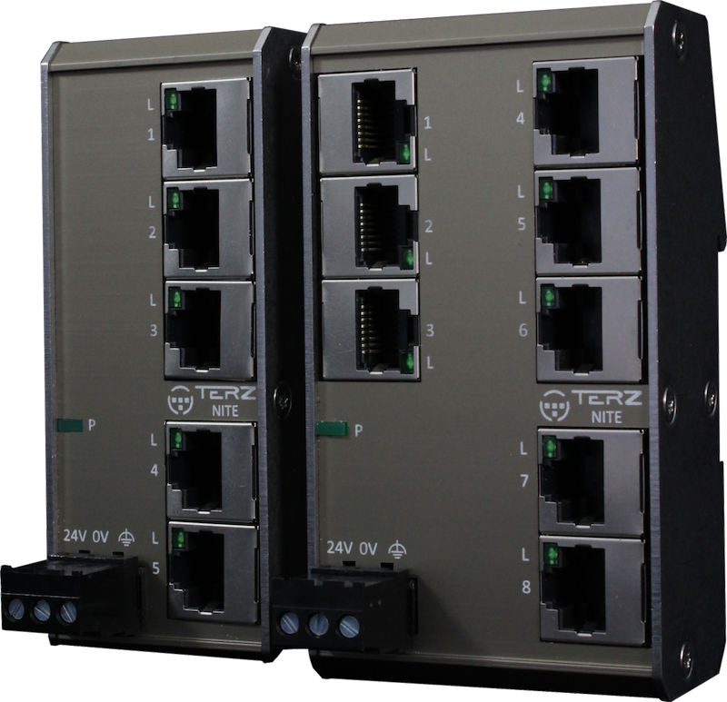 Unmanaged Industrial Ethernet Switches RJ45 Flat NITE-RF