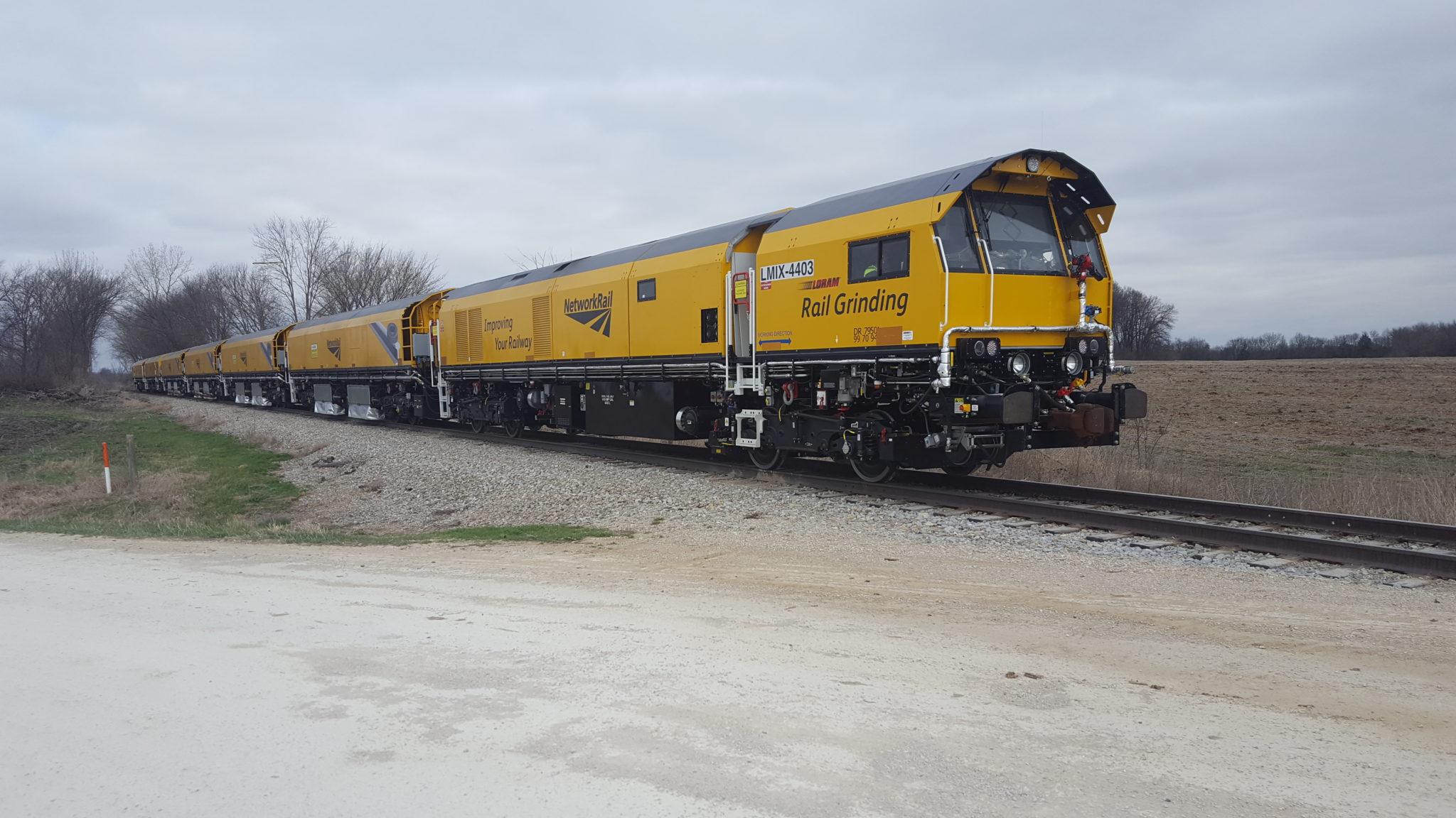 C4403 Rail Grinding at Dusk