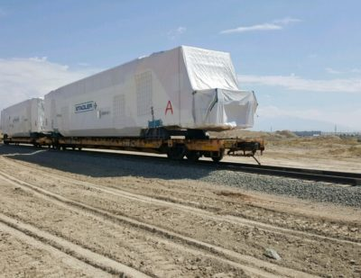 KISS Car-Shells Arrive at Stadler US Factory for Caltrain