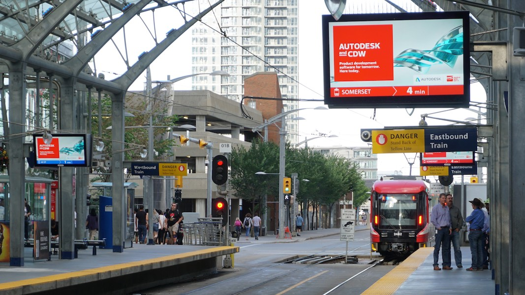 Outdoor Train Station Platform - Calgary