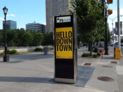 Outdoor Interactive Transit Center Kiosks