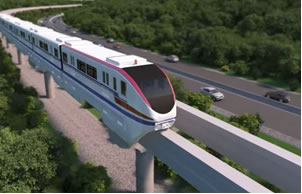 Monorail for the new Panama Metro line (impression)