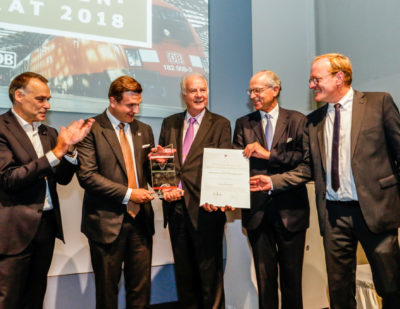 Plasser & Theurer Receives Supplier of the Year Award from Deutsche Bahn