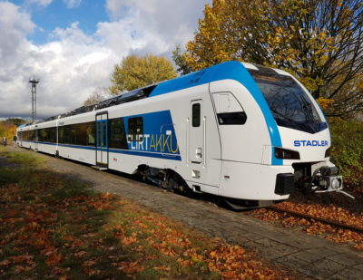 Stadler Presents New FLIRT Akku for the First Time