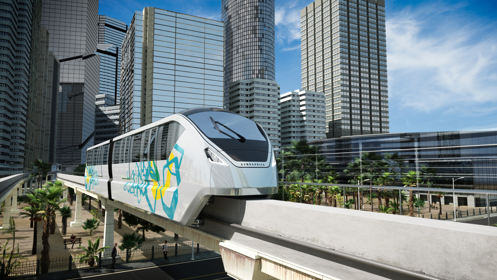 Bombardier's INNOVIA 300 monorail system for Bangkok