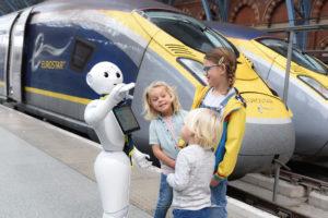 Pepper the Robot Joins Eurostar Team in London St Pancras