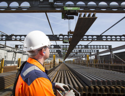 Infrabel Awards British Steel Four-Year Supply Contract