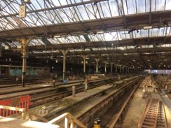 Euston Station demolition works