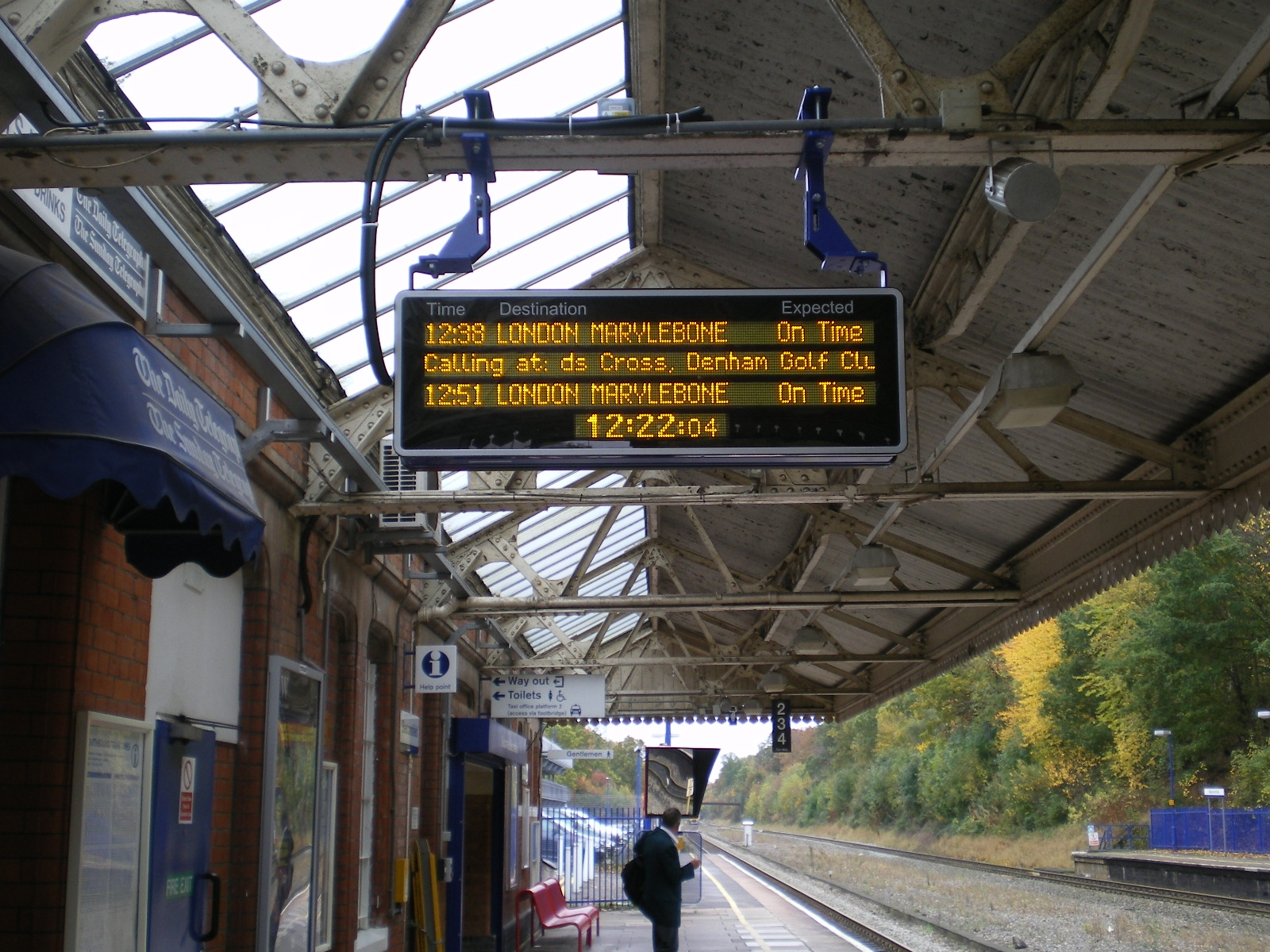 Chiltern Railways Amber LED Platform Display
