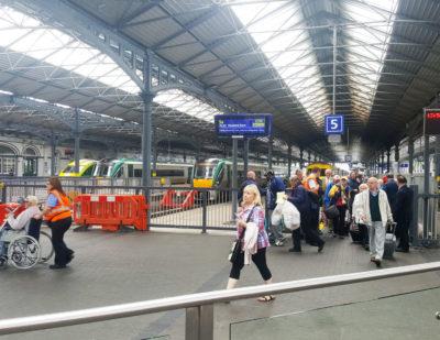 Daktronics Irish Rail Dublin Ireland 49-TFT-LCD