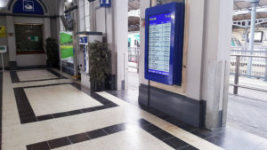 Daktronics Irish Rail Dublin Ireland 55-TFT-LCD