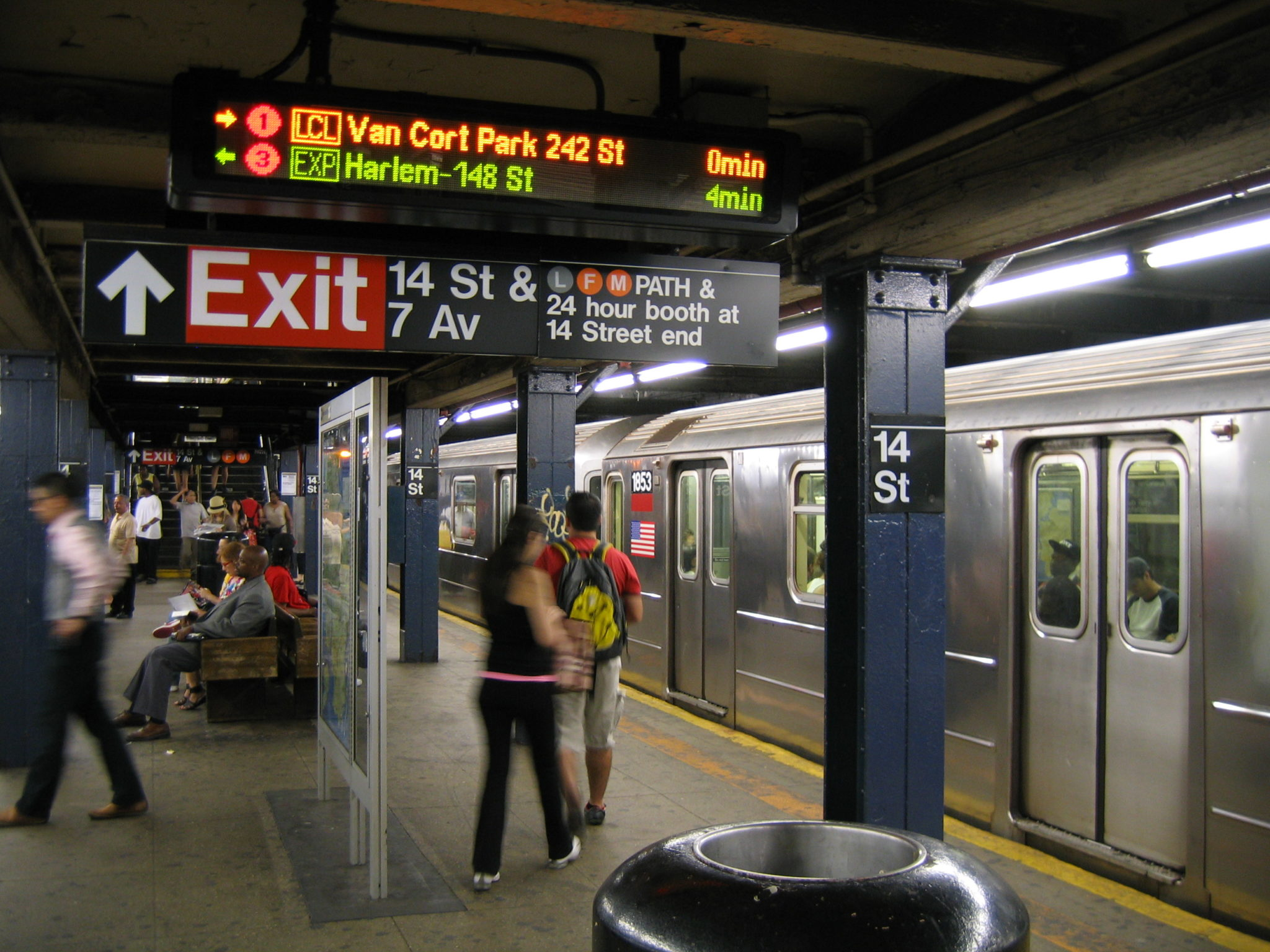 New York, USA, LED Platform Display